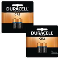 Duracell Lithium Batteries, CR2, 3v - 4 Pack