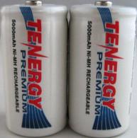 Tenergy Premium NiMh C 5000mAh Rechargeable Batteries 2Pk