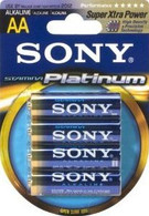 Sony Stamina Platinum Alkaline AA Batteries (4-Pack)