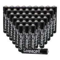 Loopacell Alkaline AAAA Digital Camera Batteries (40-Pack)