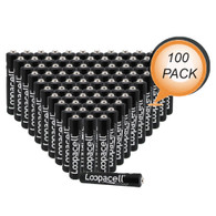 Pack of 100 Loopacell E96 AAAA Alkaline Batteries