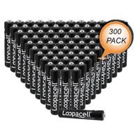 Loopacell AAAA Batteries 1.5V Alkaline AAAA Battery (300 Pack)