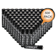 Loopacell 1.5-Volt AAAA Alkaline Batteries 500 Wholesale Pack