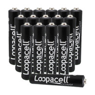 Loopacell AAAA 1.5v Miniature Alkaline Batteries - 16 Pack