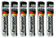 6 Pack Batteries for StreamLight Flashlight - AAAA Energizer