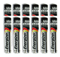 12 x Alkaline Battery AAAA LR61 AM6 E96 LR8D425 MN2500 MX2500 for StreamLight Flashlight - AAAA Energizer
