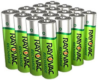 16 Rayovac AA Rechargeable 1350mAh NiMH Batteries + Free battery holders