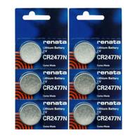 Renata CR2477N 3 Volt Lithium Battery (6 Batteries)