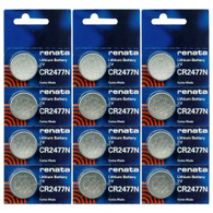 Renata CR2477N 3 Volt, 950mAh, Lithium Coin Battery, On Tear Strip (Pack of 12)