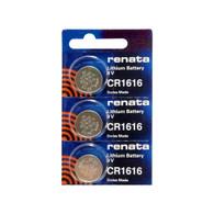 (3) Renata Cr1616 3 Volt 16.0 X 1.6 Mm Lithium Battery