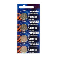 Renata CR1616-CU 50mAh 3V Lithium Primary (LiMNO2) Coin Cell Battery 4 Batteries