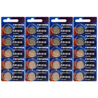 Renata CR1616 3V Lithium Button Cells Battery - 20 Pack
