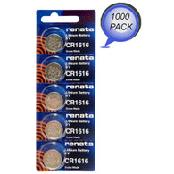 Renata CR1616 3V Lithium Coin Battery 1000 Wholesale Pack