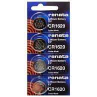 Renata CR1620 3V Lithium Coin Battery - 4 Pack