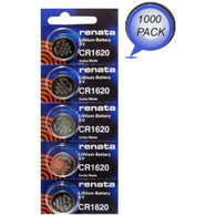 Renata CR1620 DL1620 BR 1620 Coin Cell Alkaline Watch Remote Car Fob Battery New 1000 Wholesale Pack