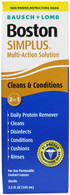 Bausch & Lomb Boston Simplus Multi Action Solution with Daily Protein Remover 3.5 oz (Pack of 2)