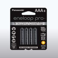 Panasonic Eneloop Pro AAA Rechargeable Batteries 8 batteries