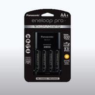 Panasonic Advanced Individual Cell Battery Charger with 4 pack Eneloop pro AA Rechargeable Batteries