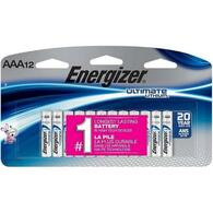 Energizer Ultimate  AAA Lithium 12 pk.