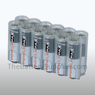 12 Pack Battery Caddy for 12 AA batteries - Clear
