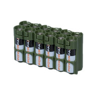12 Pack Battery Caddy for 12 AA batteries - Green
