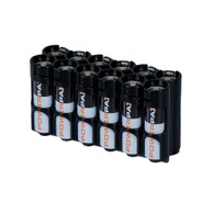 12 Pack Battery Caddy for 12 AA batteries - Black