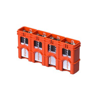 SlimLine 9V storacell battery holder battery case - orange
