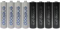 AA eneloop combo deal: 4 Panasonic Eneloop rechargeable batteries + 4 Eneloop PRO rechargeable batteries