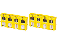 2 pack SlimLine 9V storacell battery holder battery case - yellow