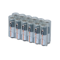 2 pack 12 Pack Battery Caddy for 12 AA batteries - Clear