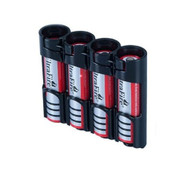 2 Pack of 18650 Battery Caddy - Black