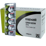 100 wholesale pack Super Fresh Maxell 373 Silver Oxide Watch  Battery