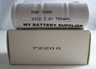 Welch Allyn 72200 Replacement 3.5V Nickel-Cadmium Rechargeable Battery - Model 72200