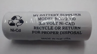 Medical Battery Replacement for Welch Allyn 72300 - 3.5V Nickel-Cadmium (Ni-Cd) Rechargeable Battery - Model 72300