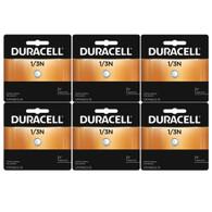 6 pack Duracell DL1/3N CR1/3N 2L76 5018LC K58L 3V Lithium Battery