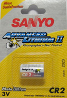 2 pack SANYO CR2 Photo Lithium Battery