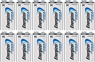 Energizer 9V ultimate lithium batteries (LA522) 12 pk.