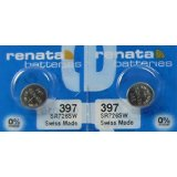 2 Pk Renata Swiss Made Battery for Irony Scuba 200 Inox/Alu Swatch Watch 397