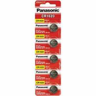 5 CR1620 Panasonic Lithium Batteries