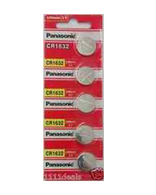 5 CR1632 Panasonic Lithium Batteries