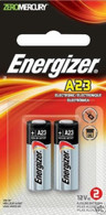 Energizer A23 Battery 12Volt 23AE 21/23 GP23 23A 23GA MN21 12v 2 Pack Sealed
