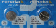 #373 Renata Watch Batteries 2Pcs