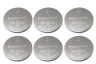 (6 Pieces) Panasonic Battery, Lithium Button Cell Br3032- Br 3032