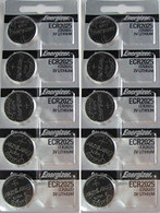 10 CR2025 Energizer Lithium Batteries (2 packs of 5)