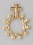 Rosary Ring/Finger Rosary: Filigree Gilt (RR113G)