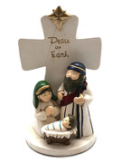 "Nativity Scene ""Peace on Earth"" Cross 15cm (NST10145)"
