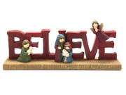 Nativity Set: BELIEVE 6cm (NST10147)