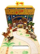 Carry Box Wooden Nativity Set 15 pieces (NS10122)