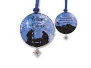 Hanging Ornament 8cm: Believe (SCO105)
