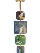 4 Piece Hanging Ornament: Nativity (SIM221)
